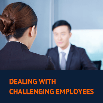 Manager having conversation with a challenging employee